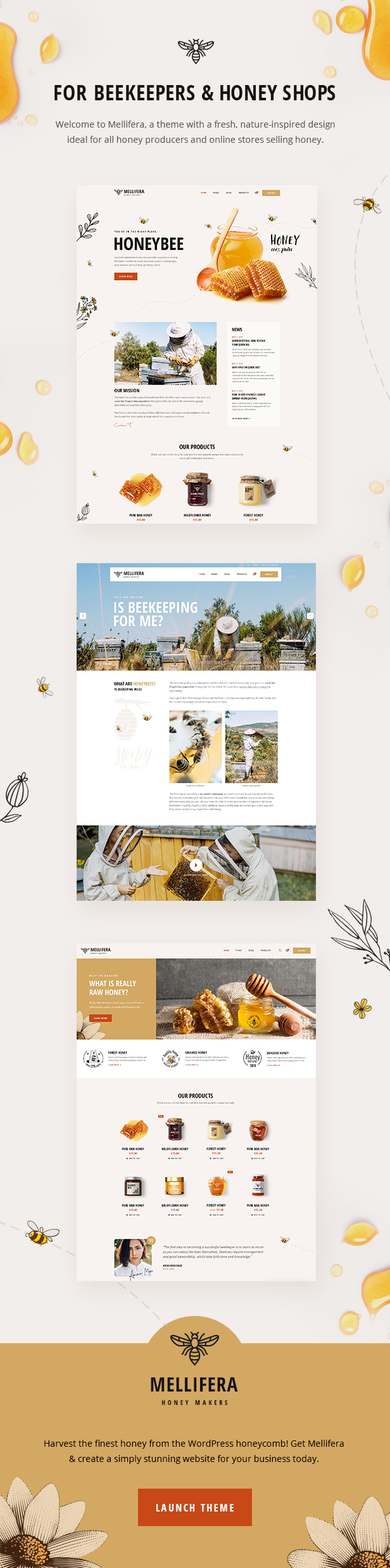 Mellifera - Beekeeping and Honey Shop Theme - 1